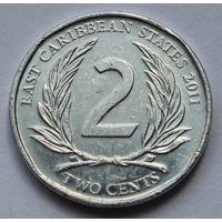 Восточные Карибы 2 цента, 2011 г.