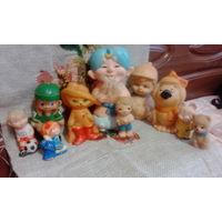 Резиновые и пластмассовые небольшие игрушки ссср