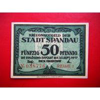 Нотгельд 50 пфеннингов 1917г. (С тесненнием )
