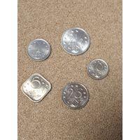 Антильские острова набор 5 монет 1971-81 UNC