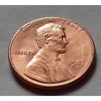 1 цент США 1987 D
