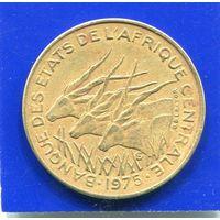 Центральная Африка 10 франков 1975