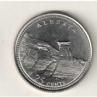 Канада 25 цент 1992 Альберта