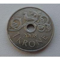 1 крона Норвегия 2008 года - из мешка