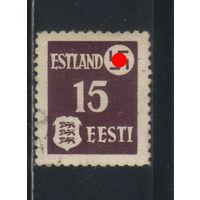 Германия Рейх Оккупация СССР Эстония 1941 Герб Стандарт #1
