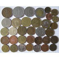Набор иностранных монет 34 шт.