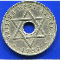 Британская Западная Африка 1 пенни 1937 KN