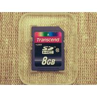 Карта памяти SDHC Transcend 8Gb Class 10