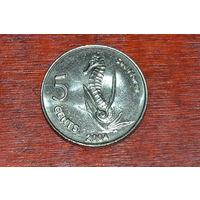 Кокосовые острова 5 центов 2004