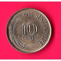 16-42 Сингапур, 10 центов 1970 г.