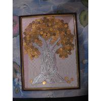 Панно Денежное дерево формат А3 торг обмен (2)