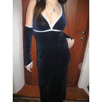 -Платье на корпоратив-очень нарядное  р.44-46 Велюровое.