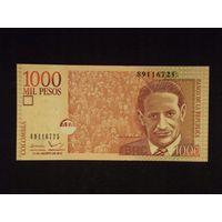 Колумбия, 1000 песо 2015 год, UNC