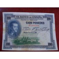 100 песет 1925 год Испания