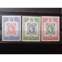 Сент-Люсия 1960 100 лет маркам Сент-Люсии, королева Виктория** Полная серия