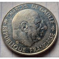 Франция 1 франк, 1988 30 лет Пятой Республике          ( К-7-3 )