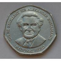 Ямайка 1 доллар, 2008 г. (Форма 7-угольник).