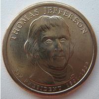 США 1 доллар 2007 г. 3-й Президент США Томас Джефферсон (j)