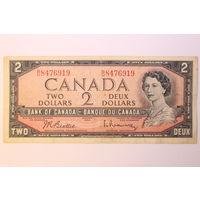 Канада, 2 доллара 1954 год.