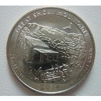 США 25 центов 2014 21 парк Теннеси / Great Smoky Mountains
