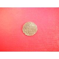 Грош 1610г. Фальшак того времени. Медь покрытая серебром.