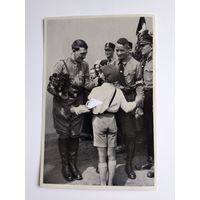 Открытка-вкладыш. Гитлер, III рейх, оригинал.