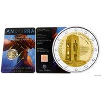 2 евро 2018 Андорра 25 лет Конституции BU