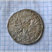 Монета серебро, Талер Германия, Ольденбург, флорин 28 штюберов (стюверов) без даты, оригинал, чеканился в 1637-1657, отличная!