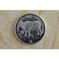 Либерия 5 долларов 1997