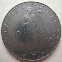 Ватикан 100 лир 1956 г.