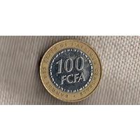 Центральная Африка 100 франков 2006/флора/биметалл/Xx
