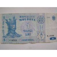 Молдова 5 лей 2009