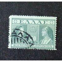Королева Ольга и королева-мать София. Греция. Дата выпуска:1939-02-01