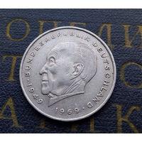 2 марки 1973 (J) Конрад Аденауэр Германия ФРГ #02