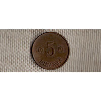 Финляндия 5 пенни 1920(Oct)