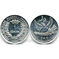Андорра 1 centim 1999