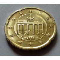 20 евроцентов, Германия 2008 F, AU