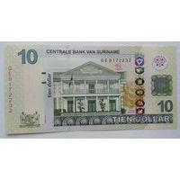 Суринам 10 долларов 2012 года UNC