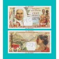 [КОПИЯ] Реюньон 100 франков 1947 г. Образец.