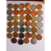 Монеты Бразилии с рубля.