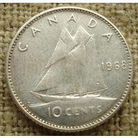10 центов 1968 Канада