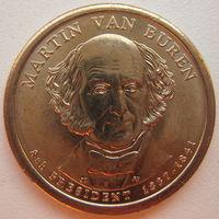 США 1 доллар 2008 г. 8-й Президент США Мартин Ван Бюрен