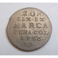 2 гроша серебряных 1766 FS