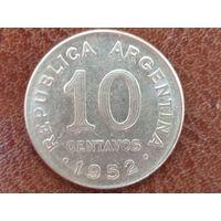 10 сентаво 1952 Аргентина