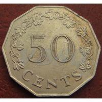 253**  50 центов 1972 Мальта