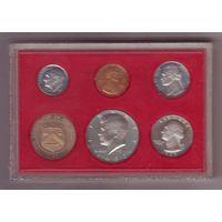 США. годовой набор 1-5-10-25-50 центов 1982 г. Пруф