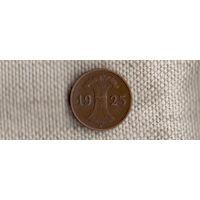 Германия 1 пфенниг 1925 A рейхспфенниг(Ab)