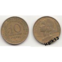 10 сантимов 1969 года. Франция
