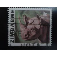 Зимбабве 1980 носорог