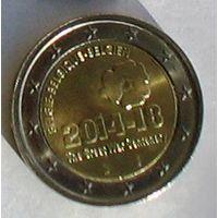 2 евро 2014 Бельгия Первая мировая война